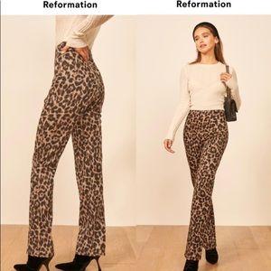 Reformation Sera Leopard Print Pant